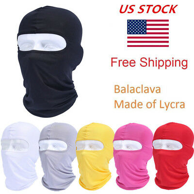 US Stock Balaclava Lycra Full Face Mask Outdoor Ski Motorcycle Cycling Cover Hat