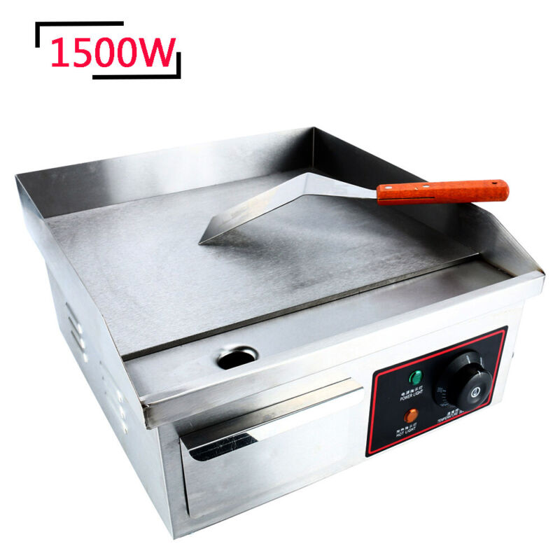 Steel Electric Thermomate Griddle Grill BBQ Plate Electric Grill Commercial