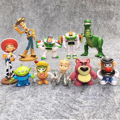 Toy Story Woody Lightyear Rex Alien Bear 10 PCS Action Figure Cake Topper Toy US