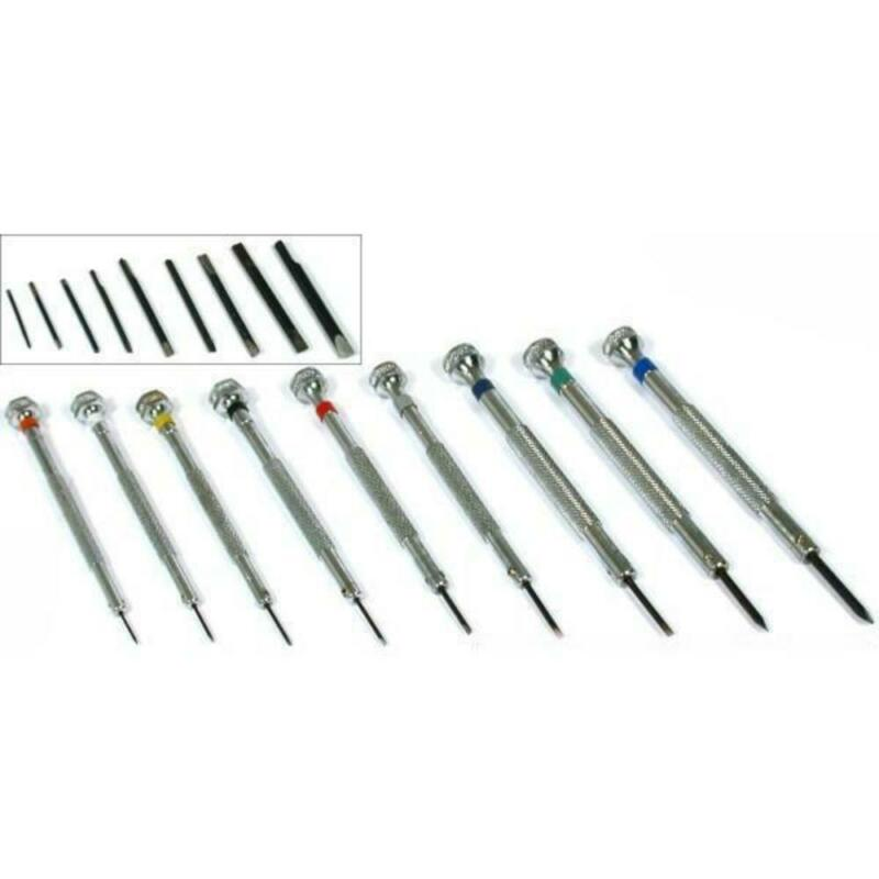 9 Precision Screwdrivers With Replacement Tips Jewelers Watchmakers Repair Tools