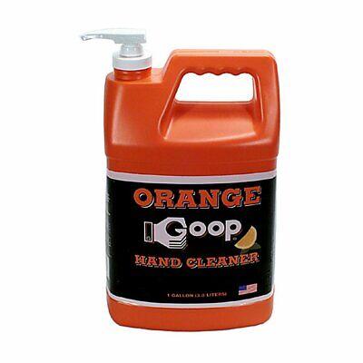 Goop Orange Liquid Hand Cleaner with Pumice - 1 Gallon Case of 4 - Liquid Hand Cleaner