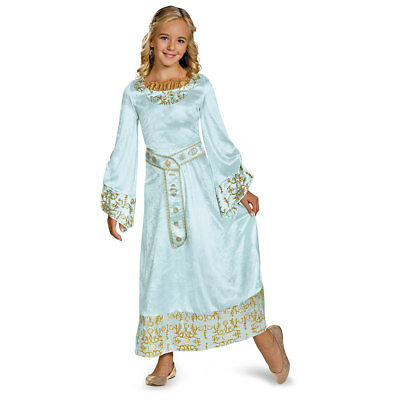 Girls Aurora Blue Dress Deluxe Halloween - Aurora Blue Dress Kostüm