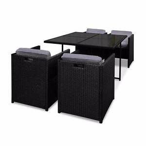 Outdoor Furniture 5 Piece Dining Set PE Wicker Steel Frame Cover Kings Beach Caloundra Area Preview