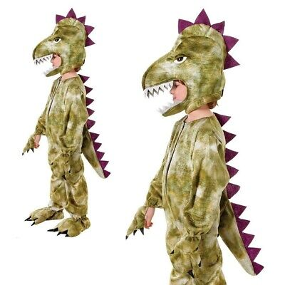 Kinder Dinosaurier Kostüm T Rex Jungen Mädchen Kinder Buch Woche Tag Kostüm (Buch Tag Kostüm Kinder)