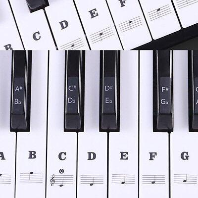 Music Keyboard or Piano Stickers 88/61/54/49 Key SET Educational Laminated Toy