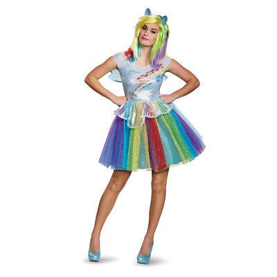Womens Deluxe Rainbow Dash Halloween Costume (Womens Deluxe Halloween Costumes)