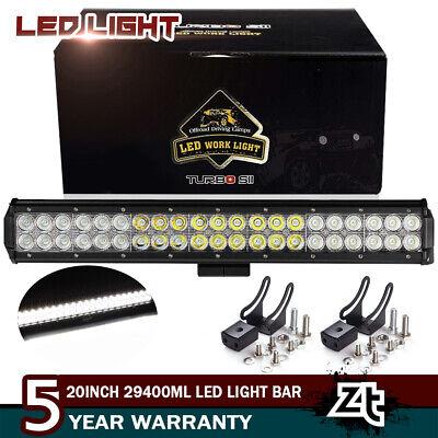 20 294w Led Light Bar Offroad For Tractor Skid Steer Loader Holland Case 2224