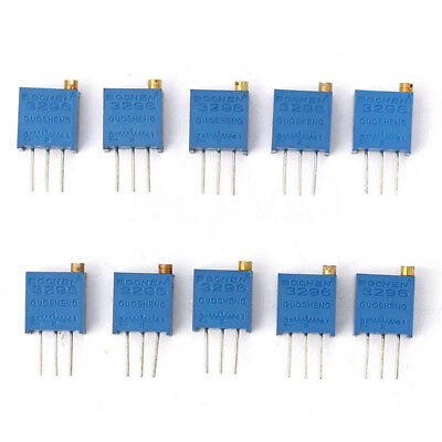 50pc10 Value Assortment 3296w Trimmer Trim Pot Potentiometer Resistor Box L2kd