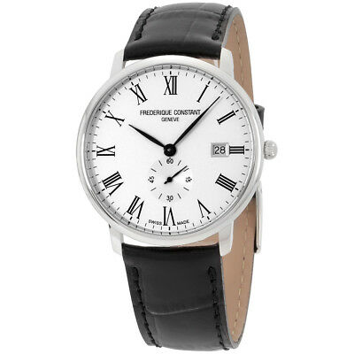 Frederique Constant Slimline White Dial Leather Strap Mens Watch Fc 245Wr5s6