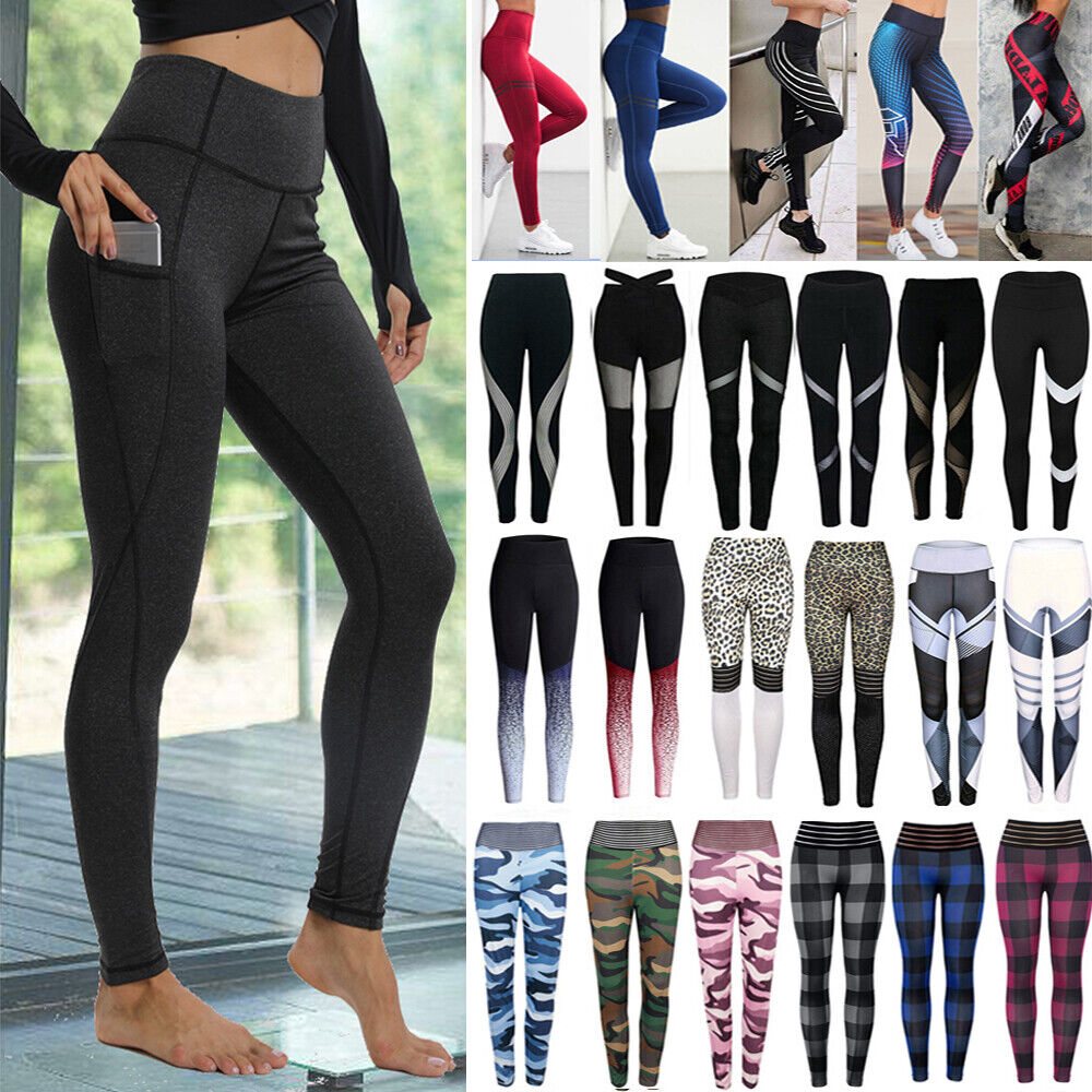 Sport Womens Compression Fitness Leggings Running Yoga Gym Pants Workout Wear W7