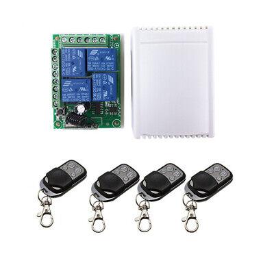 Universal Dc12v 433mhz Wireless Remote Control 124 Raley Switch Receiver Set