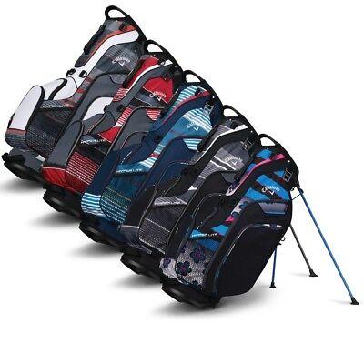 NEW Callaway Golf 2018 Hyper-Lite 5 Stand Bag 7-way Top - Pi