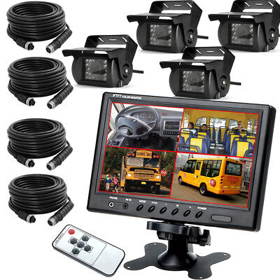 """9 """" Auto Rückfahrkamera Set 4 Pin LCD Monitor Video Car Rückfahrsystem"""