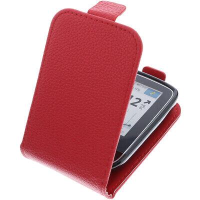 Tasche für Abbott Freestyle Libre 2 FlipStyle Schutz Hülle Flip Case Rot
