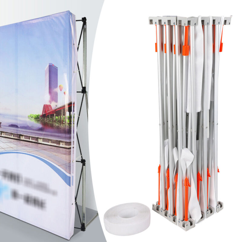 Pop Up Booth Tension Fabric Display Trade Show Straight Backdrop Frame
