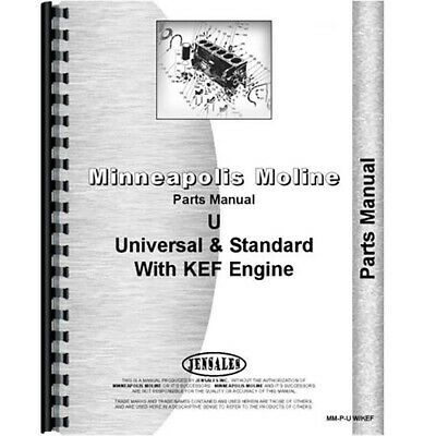 New Minneapolis Moline U Tractor Parts Manual W Kef Engine