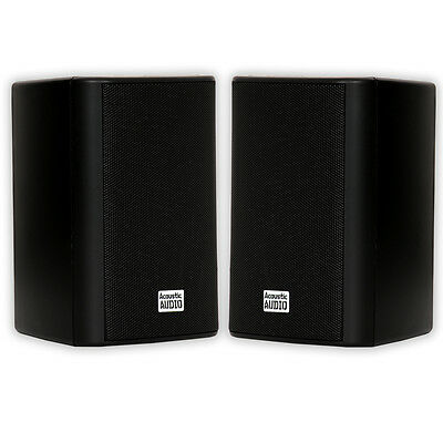 Acoustic Audio AA351B Indoor Outdoor 2 Way Speakers 500 Watt Black Pair