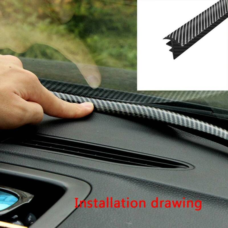 1.6M Carbon Fiber Car Auto Dashboard Gap Filling Sealing Strip Rubber Universal