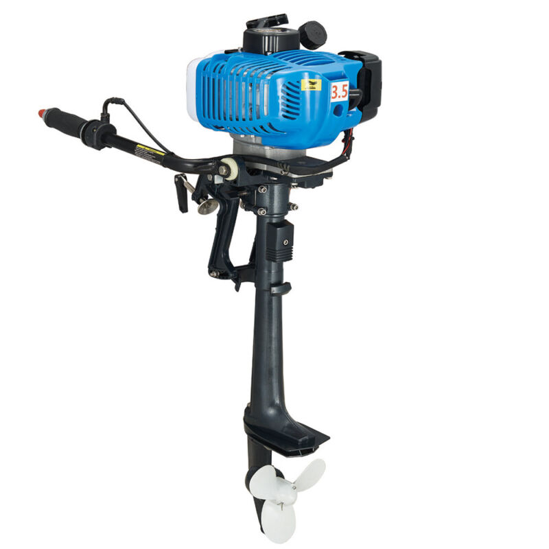2 Stroke Gasoline Outboard Motor 3.5HP Boat Engine WATER COOL CDI Systerm 10km/h