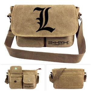 Anime Death Note Canvas Shoulder Bag Messenger Bag Haversack School Gift