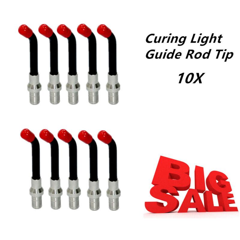 USA Dental Optical Fiber Curing Light Guide Rod Tip Glass LED Tip Black 8MM