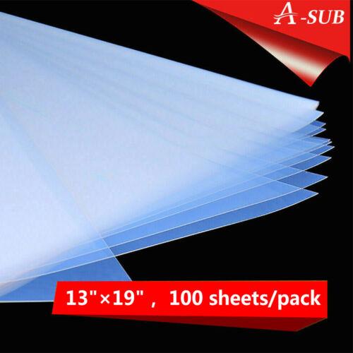 100 Sheets 13x19 Inkjet Film for Screen Printing Waterproof Silk Transparency