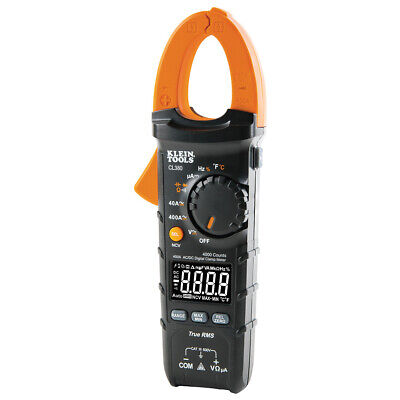 Klein Tools Cl380 Acdc Digital Clamp Meter 400a Auto-ranging Trms