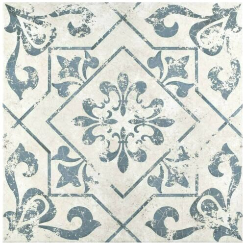 Orleans Spanish Pattern 18x18 Patterned Ceramic Floor and Wall Tile Kitchen Bath