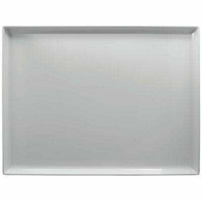 White Plastic Display Merchandising Tray Melamine Rectangular - 20