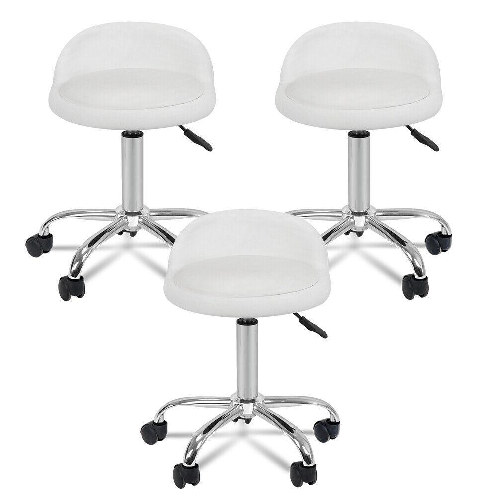 3X Spa Salon Stool W/Back Rest Hydraulic Adjustable Height 5 Wheels 360 swivel Health & Beauty