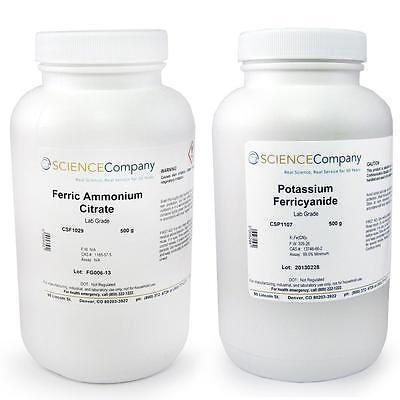Nc-13652 Cyanotype Kit 500g Potassium Ferricyanide Ferric Ammonium Citrate