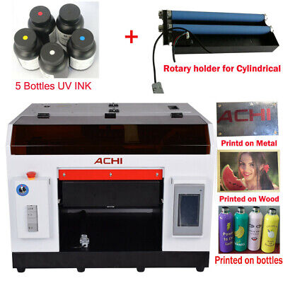 ACHI A3 UV Printer &1390 Printed Head for Cylindrical  Flat 3D Rotation Embossed