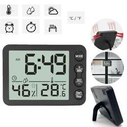 Multifunction Electronic LED Digital Alarm Clock Weather Thermometer Humidity