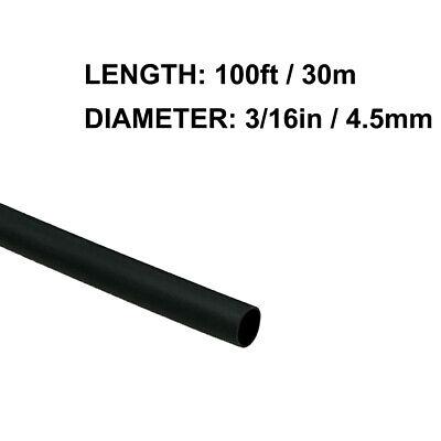 316in 4.5mm Diameter Heat Shrink Tubing Shrinkable Tube 100ft Black