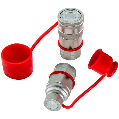 Hydraulic Quick Connect Couplers 12 Npt Flat Face Fit For Bobcat Skid Steer