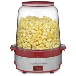 NEW CUISINART EasyPop Popcorn Maker, CPM-700C, Red/Silver Condtion: New