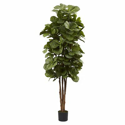 Nearly Natural 6 ft. Fiddle Leaf Fig Silk Tree, Brown