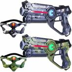 Light Battle Active Lasergame Set -2 Laserguns + 2 maskers