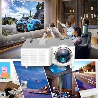 Mini Portables Projector Home Family HDMI 1080P LED USB AV SD Micro Mobile Phone