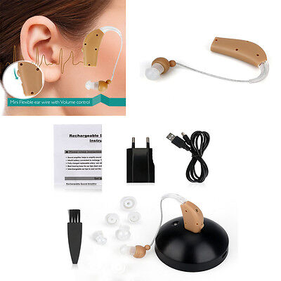 Usa Rechargeable Digital Hearing Aids Device Sound Amplifier Bte Behind The Ear