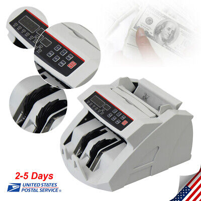 Us Led Money Bill Counter Counting Device Counterfeit Detector Uv Mg Cash Sale
