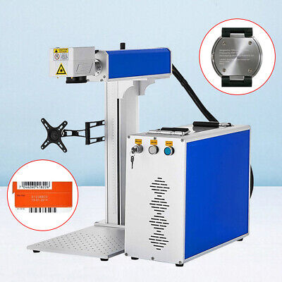 30w Fiber Laser Marking Machine 175x175mm Engraving Machine 80mm Rotary Axis Ce