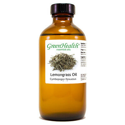 8 fl oz Lemongrass Essential Oil (100% Pure & Natural) - GreenHealth