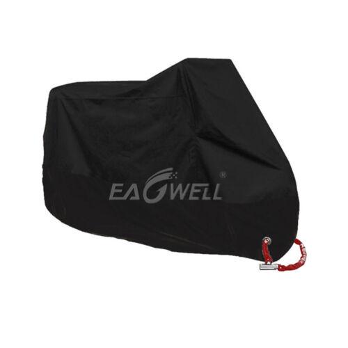 Motorcycle Cover Black Bike Waterproof Outdoor Rain Dust UV Protector XXL USA