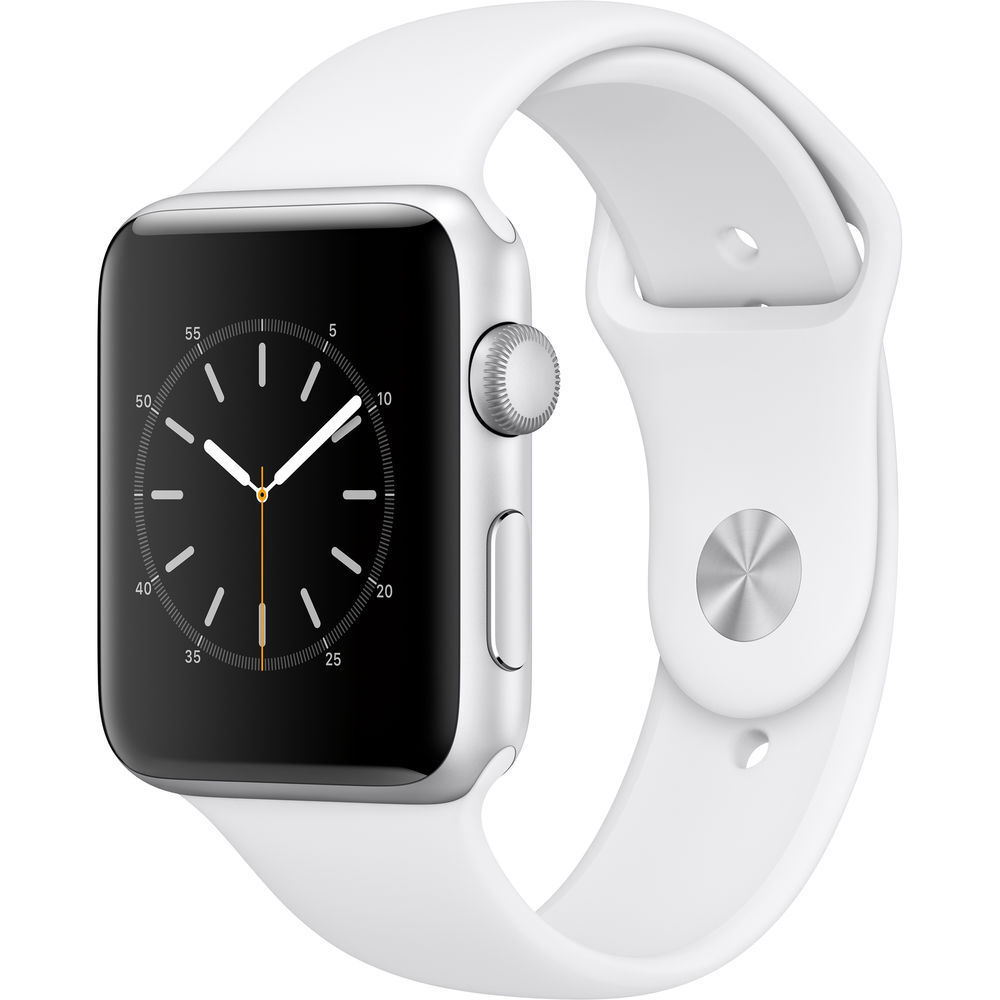 Apple Series 2 Watch For Iphone - 42mm Silver Aluminum Case With White Sport Band 6