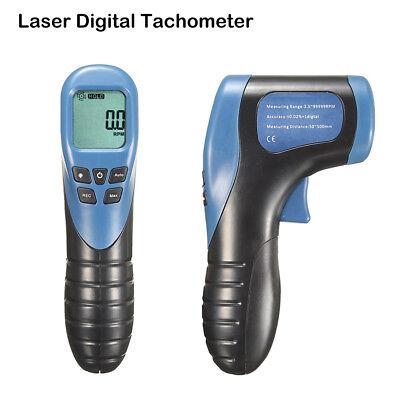 New Digital Non-contact Laser Photo Tachometer Gun Tach Tester Meter Speed Gauge