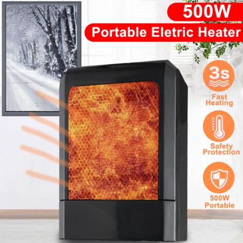 new 500w mini black ceramic electric heater