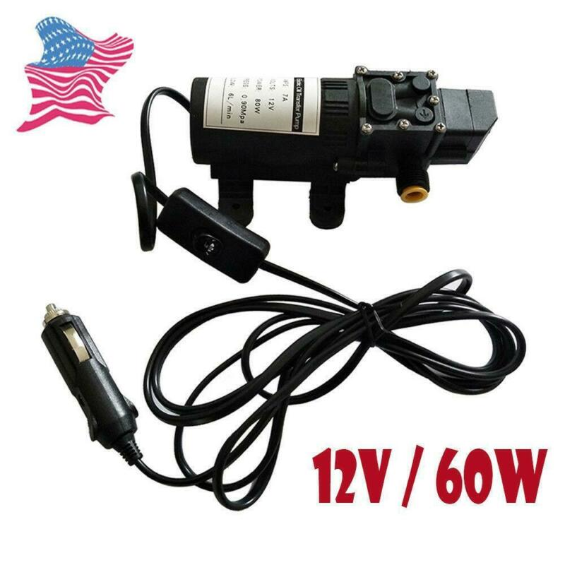 12V Fuel Transfer Pump Oil Diesel Gas Gasoline Kerosene Fluid Extractor 5L/min