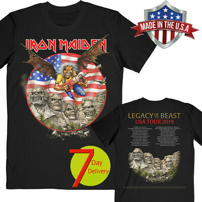 Iron Maiden Legacy of the Beast 2019 Tour USA T-shirt Black Size S-6XL Best