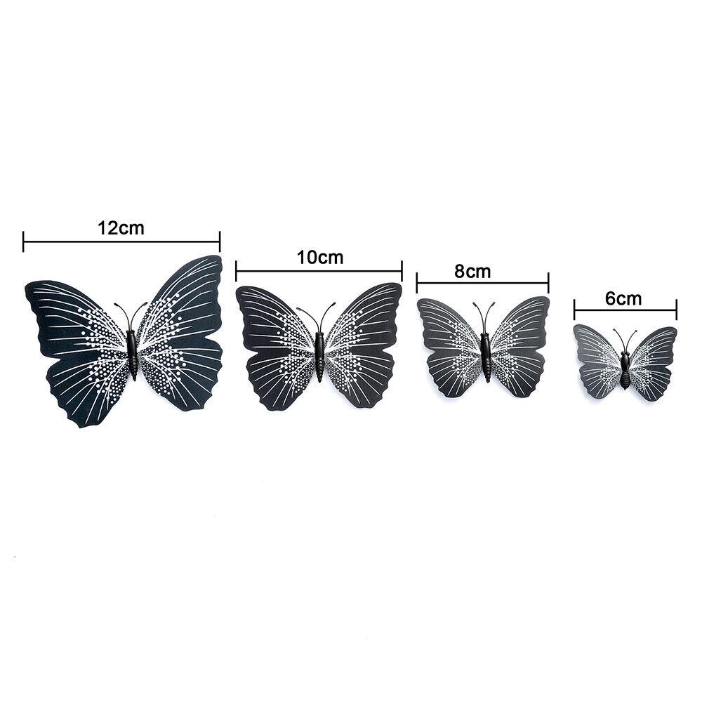 12PCS Women Butterfly Hair Clips Hair Pins Barrette Bridal
